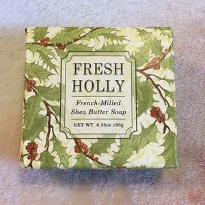 Fresh Holly French Milled Shea Butter Soap NWT